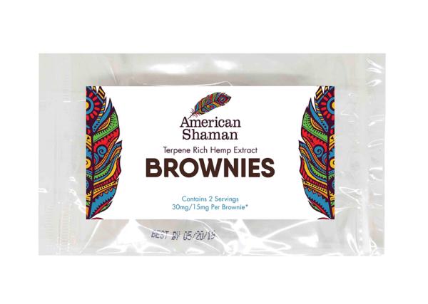 Bag of American Shaman Hemp Extract Brownies
