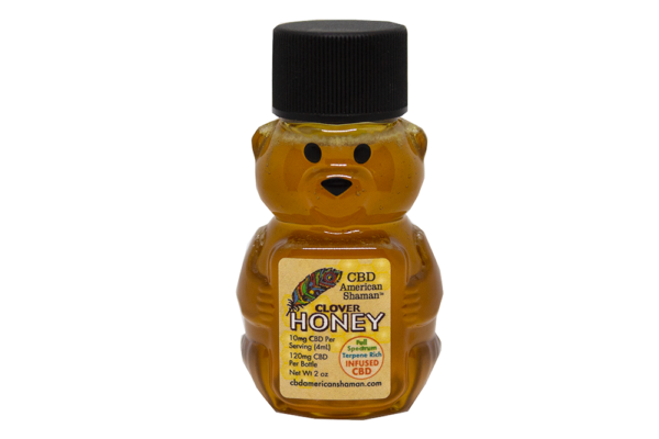 Bottle of American Shaman CBD Honey