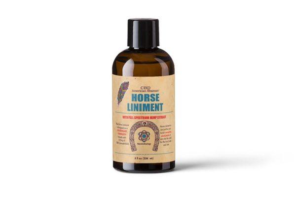 Bottle of American Shaman Horse Liniment