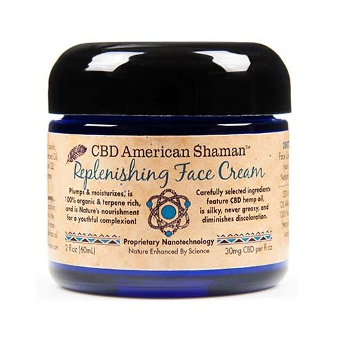 Bottle of American Shaman Replenishing Face Cream