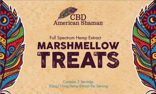 Box of American Shaman Hemp Extract Marshmellow Treats